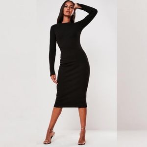 NEW Missguided crewneck bodycon midi dress 4